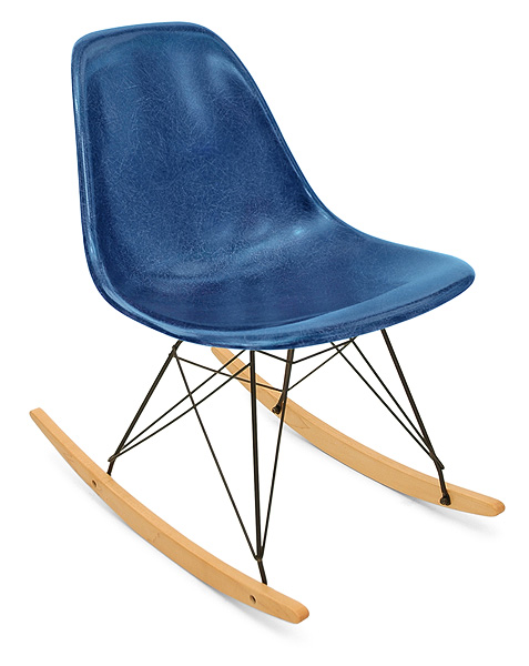 Case Study Side Shell Rocker Modernica Fiberglass Rocking Chair